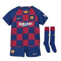 19-20 Barcelona Home Blue&Red Children's Jerseys Kit(Shirt+Short+Socks)