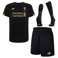 19-20 Liverpool Goalkeeper Black Soccer Jerseys Kit(Shirt+Short+Socks)