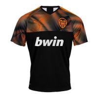 19-20 Valencia Away Black&Orange Soccer Jerseys Shirt