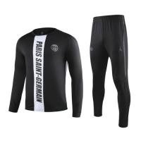 19-20 PSG Black&White Sweat Shirt Kit(Top+Trouser)