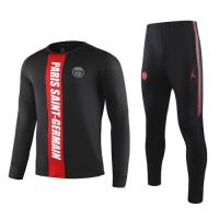 19-20 PSG Black&Red Sweat Shirt Kit(Top+Trouser)