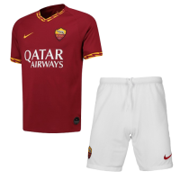 19-20 Roma Home Red Soccer Jerseys Kit(Shirt+Short)