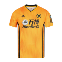 19-20 Wolverhampton Wanderers Home Yellow Soccer Jerseys Shirt