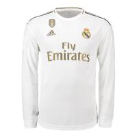 19-20 Real Madrid Home White Long Sleeve Jerseys Shirt