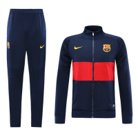 19-20 Barcelona Navy&Red High Neck Collar Training Kit(Jacket+Trousers)
