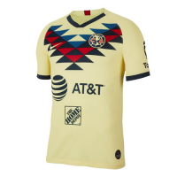 19-20 Club America Home Yellow Soccer Jerseys Shirt