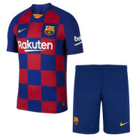 19-20 Barcelona Home Blue&Red Soccer Jerseys Kit(Shirt+Short)