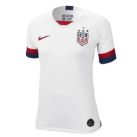 2019 World Cup USA Home Four Stars White Women's Jerseys Shirt