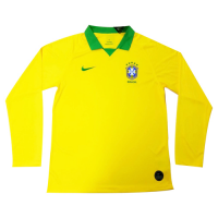 2019 Brazil Home Yellow Long Sleeve Jerseys Shirt