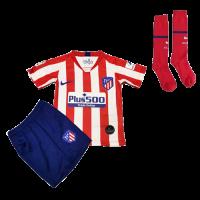 19-20 Atletico Madrid Home Red&White Children's Jerseys Kit(Shirt+Short+Socks)