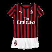 19-20 AC Milan Home Black&Red Children's Jerseys Kit(Shirt+Short)