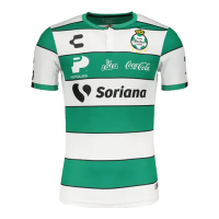 19/20 Santos Laguna Home Green&White Soccer Jerseys Shirt