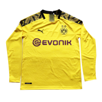 19/20 Borussia Dortmund Home Yellow Long Sleeve Jerseys Shirt