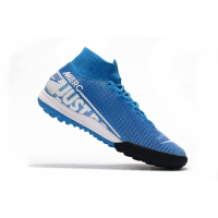 NK Mercurial Superfly 7 Elite TF Soccer Cleats-Blue&White