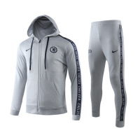 19/20 Chelsea Gray Hoody Training Kit(Jacket+Trouser)