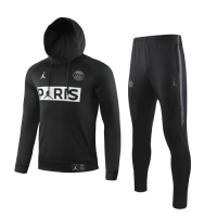 19/20 PSG Black Hoody Sweat Shirt Kit(Top+Trouser)