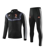 19/20 Juventus Black High Neck Collar Training Kit(Jacket+Trouser)