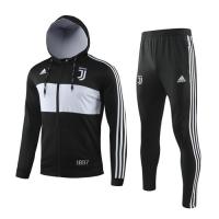 19/20 Juventus Black&White Hoody Training Kit(Jacket+Trouser)