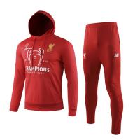 19/20 Liverpool Red Hoody Sweat Shirt Kit(Top+Trouser)