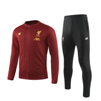 19/20 Liverpool Red High Neck Collar Training Kit(Jacket+Trouser)