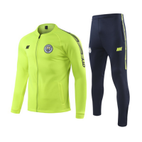 19/20 Manchester City Green High Neck Collar Training Kit(Jacket+Trouser)