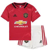 19-20 Manchester United Home Red Children's Jerseys Kit(Shirt+Short)