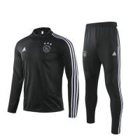 19/20 Ajax Black Sweat Shirt Kit(Top+Trouser)