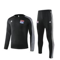 19/20 Olympique Lyonnais Black Sweat Shirt Kit(Top+Trouser)