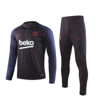 19/20 Barcelona Red Zipper Sweat Shirt Kit(Top+Trouser)