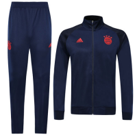 19/20 Bayern Munich Navy High Neck Collar Player Version Training Kit(Jacket+Trouser)