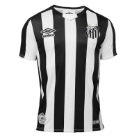 19-20 Santos Away Black&White Soccer Jerseys Shirt