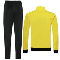 19/20 Borussia Dortmund Yellow High Neck Collar Player Version Training Kit(Jacket+Trouser)