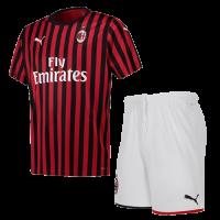 19-20 AC Milan Home Black&Red Soccer Jerseys Kit(Shirt+Short)