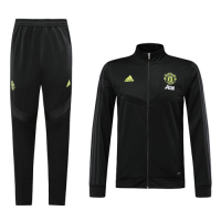 19-20 Manchester United Black High Neck Collar Training Kit(Jacket+Trouser)
