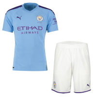 19-20 Manchester City Home Blue Jerseys Kit(Shirt+Short)