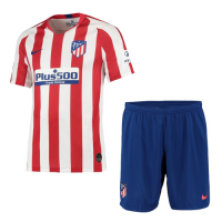 19-20 Atletico Madrid Home Red&White Soccer Jerseys Kit(Shirt+Short)