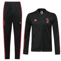 19/20 Juventus Black&Pink V-Neck Training Kit(Jacket+Trouser)