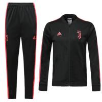 19/20 Juventus Black&Pink V-Neck Training Kit(Jacket+Trouser)