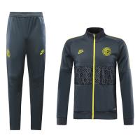 19-20 Inter Milan Gray&Yellow High Neck Collar Training Kit(Jacket+Trouser)