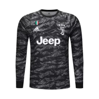 19/20 Juventus Goalkeeper Black Long Sleeve Jerseys Shirt