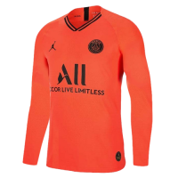 19/20 PSG Away Red&Orange Long Sleeve Soccer Jerseys Shirt