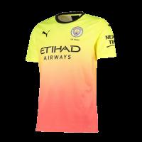 19/20 Manchester City Third Away Yellow&Orange Jerseys Shirt