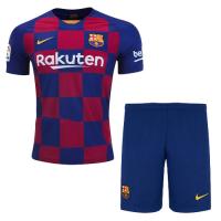 19/20 Barcelona Home Blue&Red Soccer Jerseys Kit(Shirt+Short)