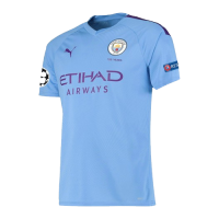 19/20 UCL Manchester City Home Blue Jerseys Shirt