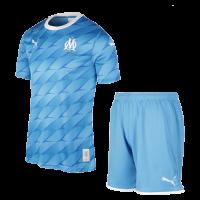 19/20 Marseille Away Blue Jerseys Kit(Shirt+Short)