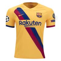 19/20 UCL Barcelona Away Yellow Soccer Jerseys Shirt