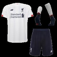 19-20 Liverpool Away White Soccer Jerseys Kit(Shirt+Short+Socks)