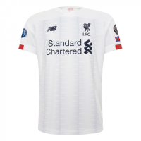 19/20 UCL Liverpool Away White Soccer Jerseys Shirt