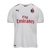 19/20 AC Milan Away White Soccer Jerseys Shirt(Player Version)