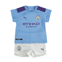 19/20 Manchester City Home Blue Children's Jerseys Kit(Shirt+Short)